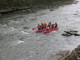 Рафтинг на річці Опір